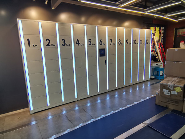 北京奥林匹克公园特步跑步俱乐部采购人脸识别智能储物柜造物联新形象