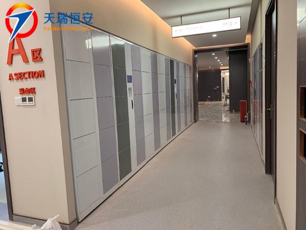 广州爱康国宾体检中心采购天瑞恒安二维码联网型智能储物柜设备