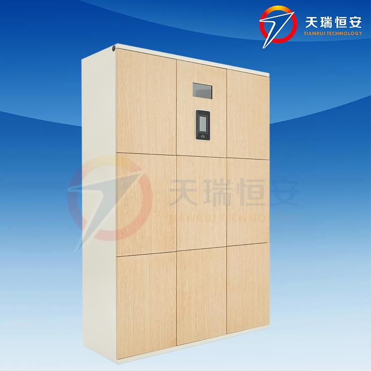木纹电子更衣柜