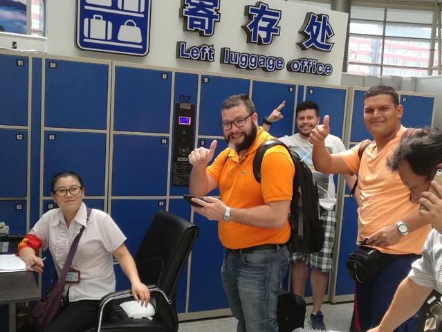 北京南站采用我司电子寄存柜